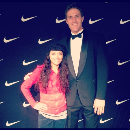 Pic w/ a tall Fireman after picking up my NWM Lunar Glides :-)