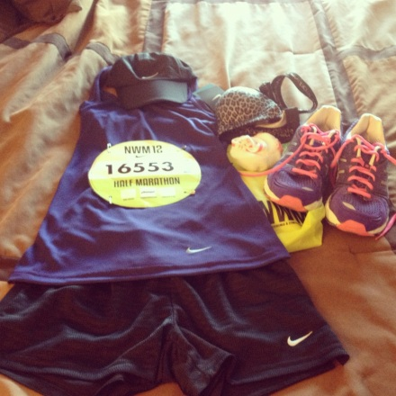 Clothes and Gear prepped for Race Day.