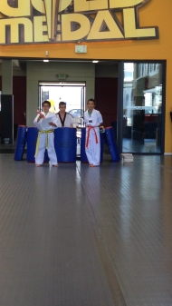 My boys at their last belt test for Taekwondo