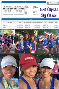 Race #: Capital City Classic 10 Miler with NEM founder Maria Kang.