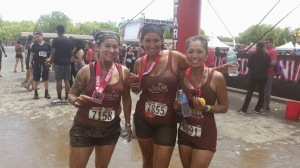 Rugged Maniac OCR race with NEM leaders Liz and Jess. Liz and I were both sick.