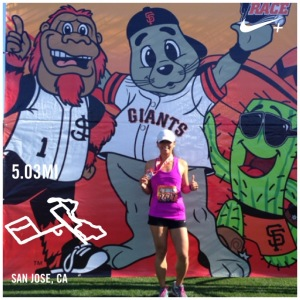Fun SJ Giant Race 5 Miler - still sick.