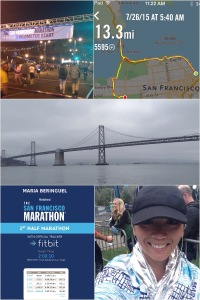 SF 1st Half Marathon - my toughest race and my slowest time.